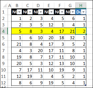 Formula to Count Duplicate Number Sets