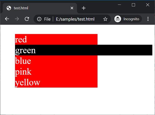 Wildcard selectors (1) in CSS