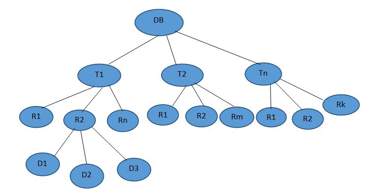 Multiple granularities | DBMS