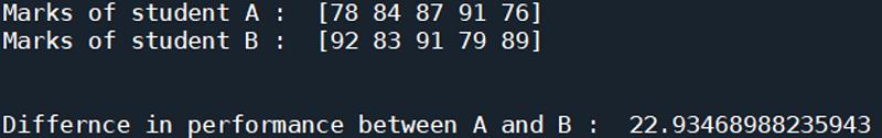 Python   Euclidean Distance (2)
