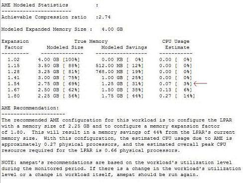 AME建模的统计信息和推荐报告的屏幕截图结果