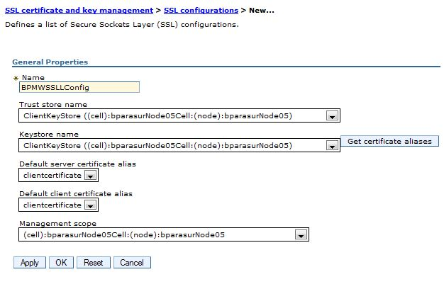 配置WebSphere Application Server SSL