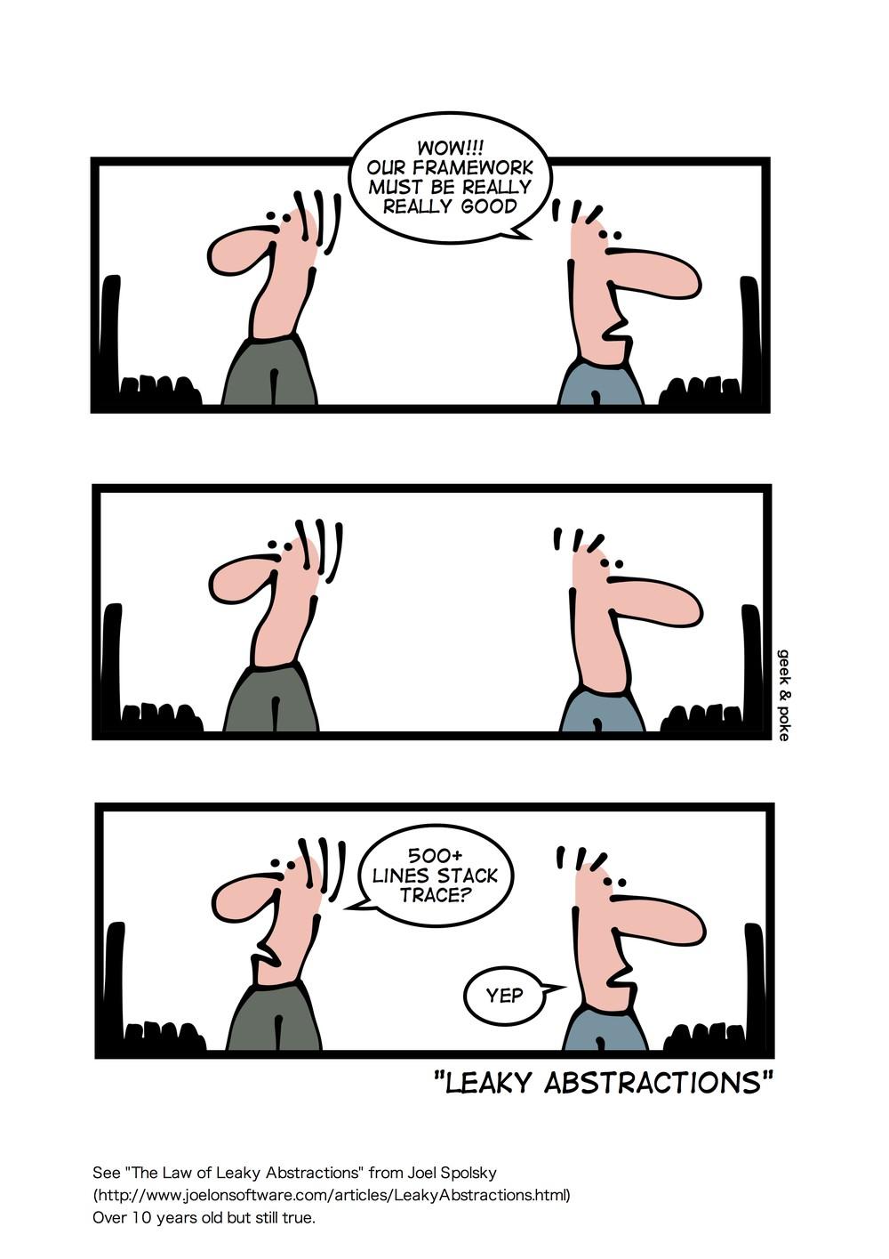 Geek和Poke理解的泄漏抽象(许可CC-BY)