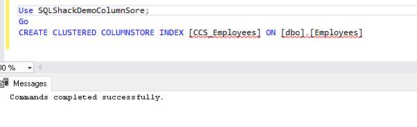 Columnstore index SQL Server 2019