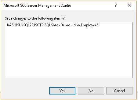 Error in SSMS
