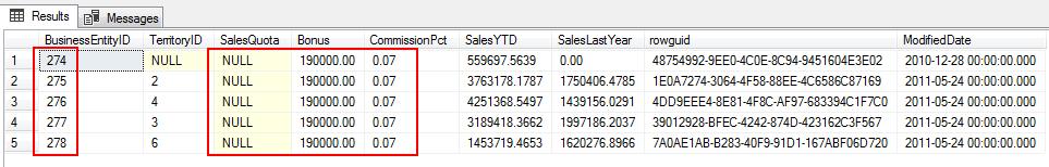 SQL Update Statement