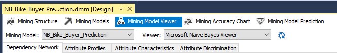 Options in Mining Model Viewer.
