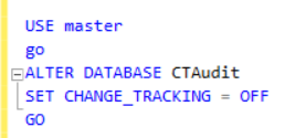 Disable CT at the database level