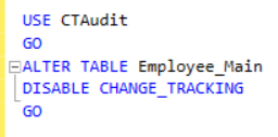 Disable CT at the table level