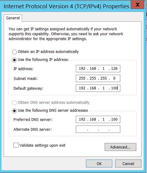 Internet protocol Version 4 TCP/IPv4 - properties