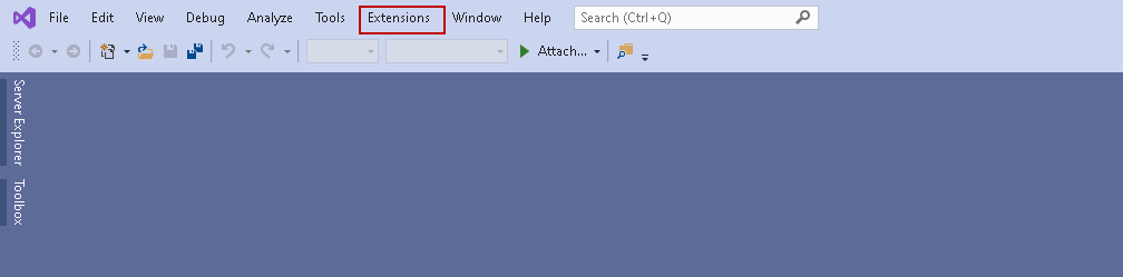 Extensions in Visual Studio 2019