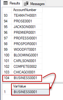 Value assignment to SQL variable from a table which has multiple rows