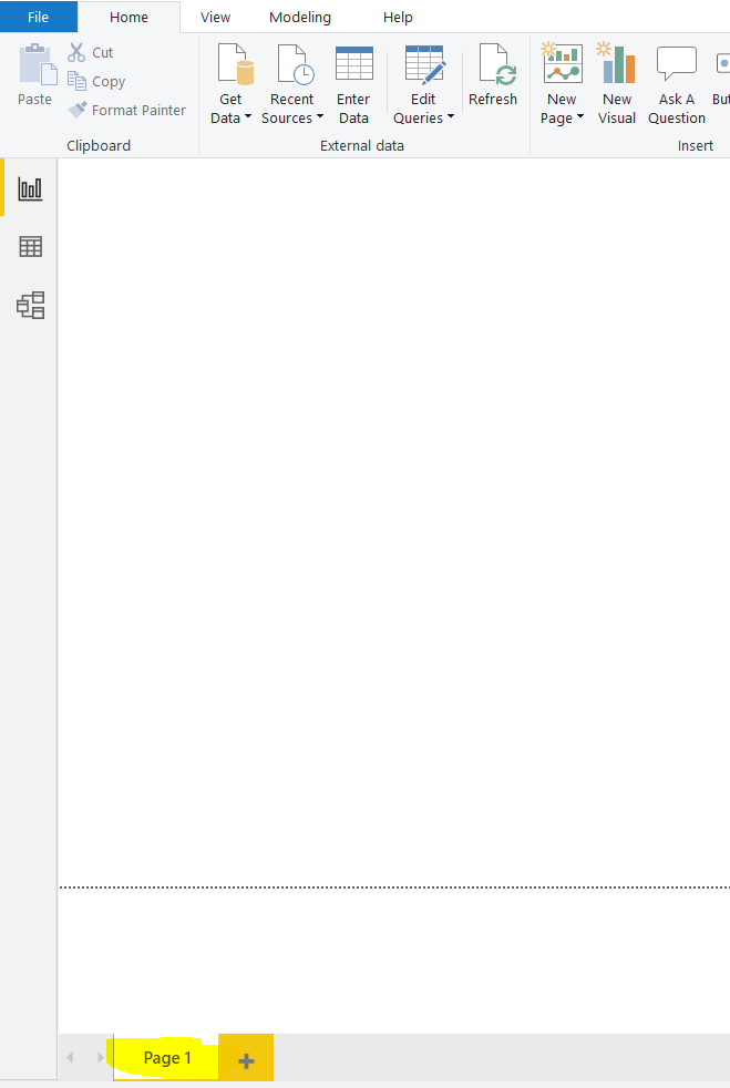 Demonstrating where the pages tabs are in the UI