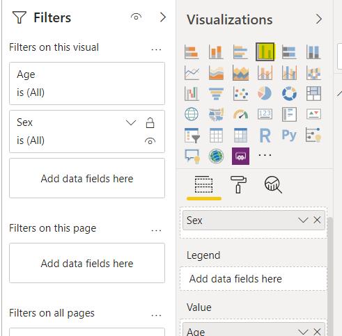 Select a data visualation to create.