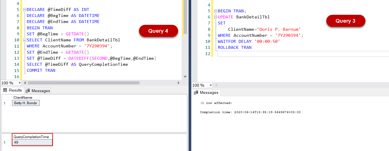 Comparing SQL Server Read Uncommitted vs Read Committed Isolation Level.