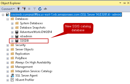 SSIS catalog database