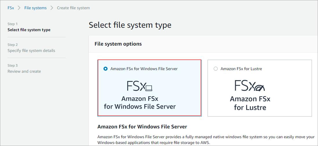 Fsx file server
