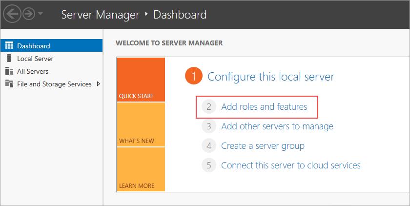 Install failover cluster
