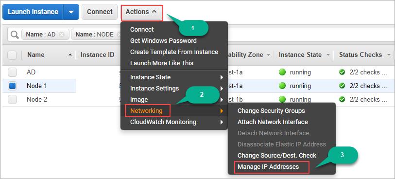 Secondary IP address for EC2 instances