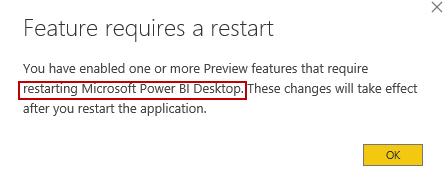 Feature restart required