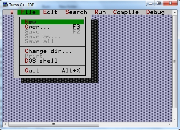 first c program with turbo C