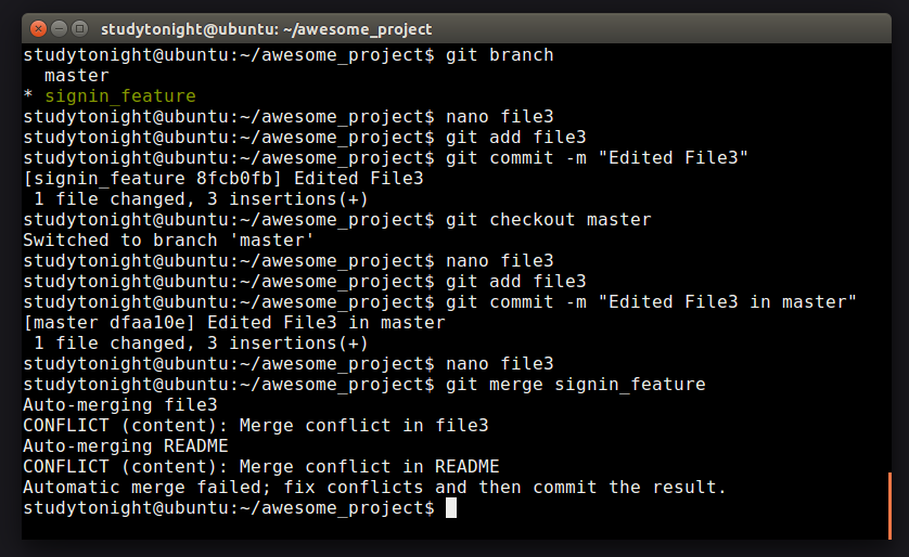 Merge Conflicts in GIT