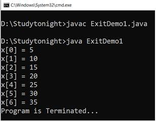 system-exit-program