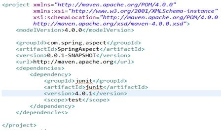 Sample POM Xml file