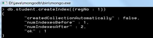 Creating Index in MongoDB