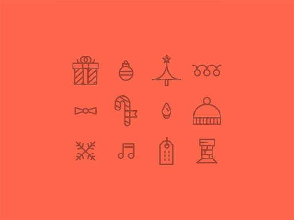 圣诞节设计图标