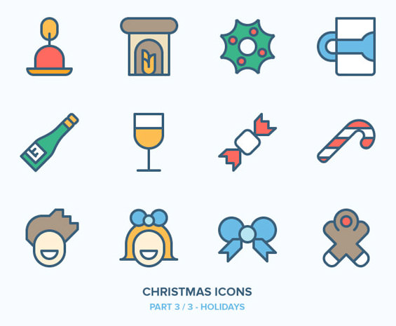圣诞节相关的图标