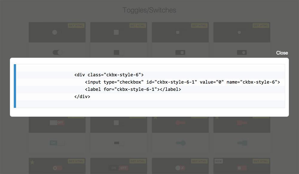 CSS复选框库演示