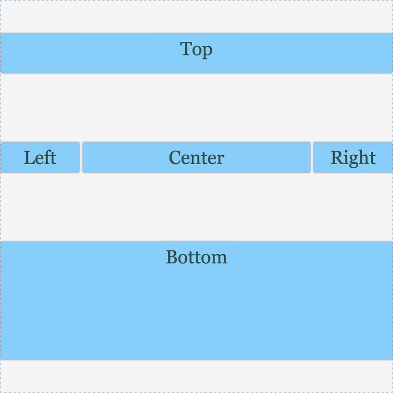 网格具有对齐内容:间距