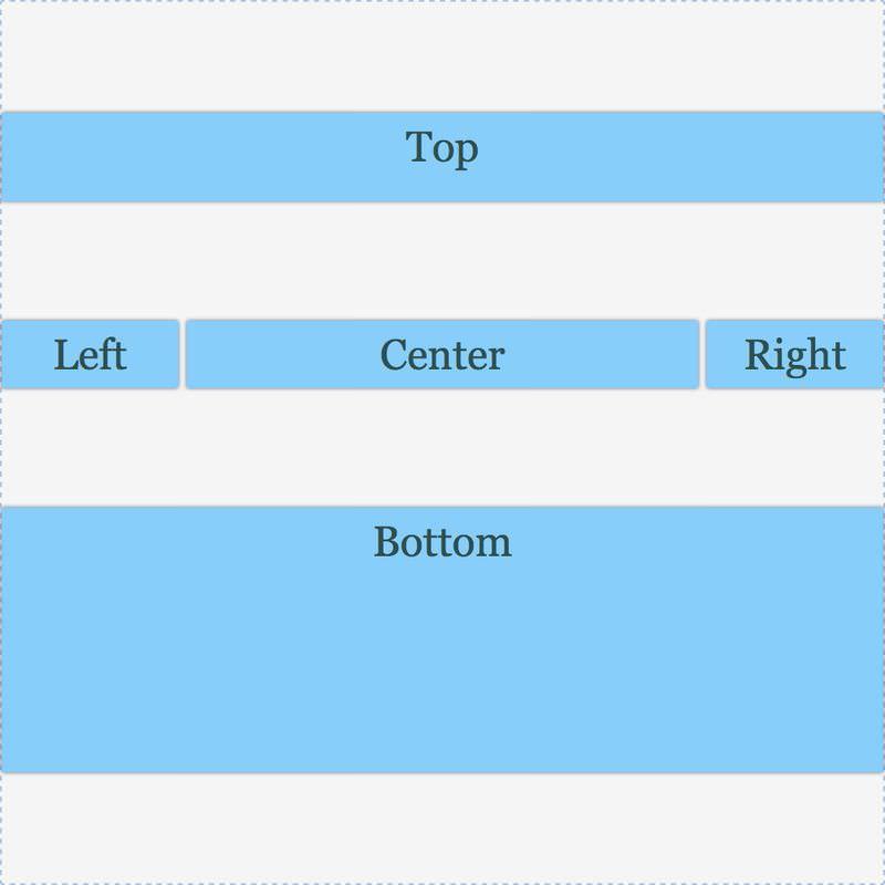 具有对齐内容的网格:空间均匀