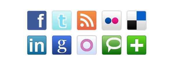 社交媒体图标