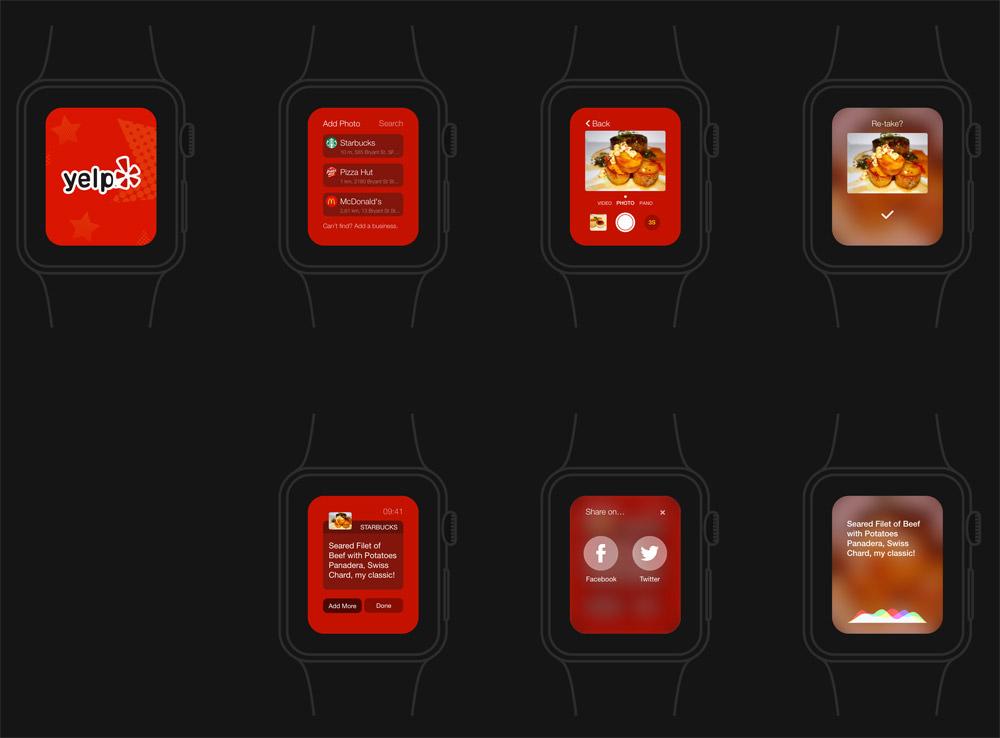 苹果手表应用程序概念