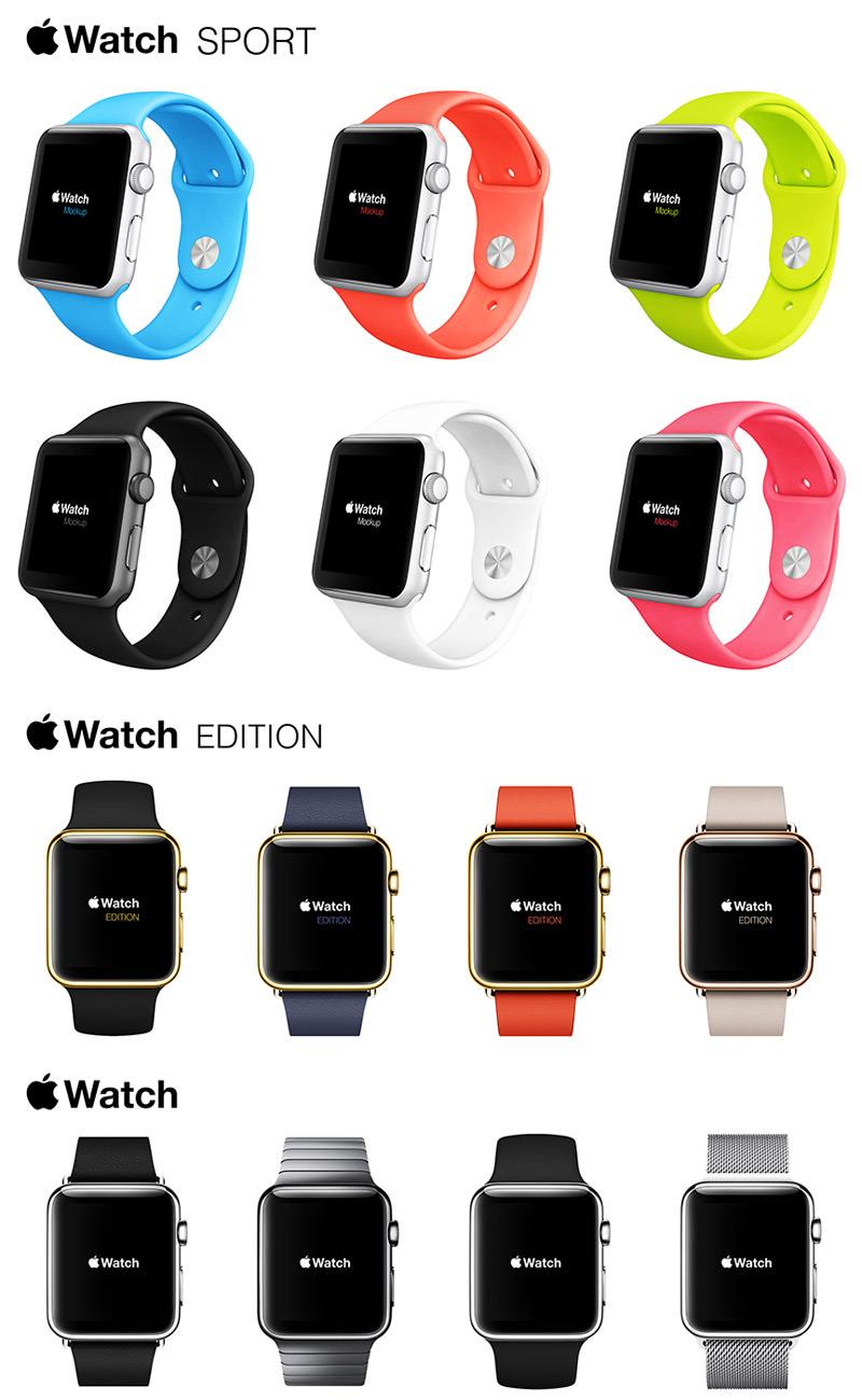 Apple Watch免费样机套件
