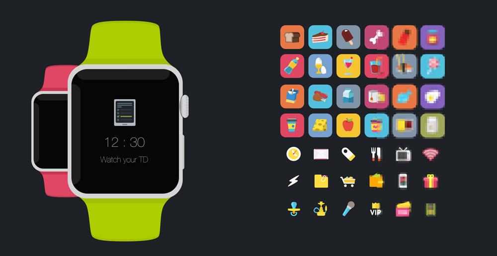 苹果手表fres psd平板样机