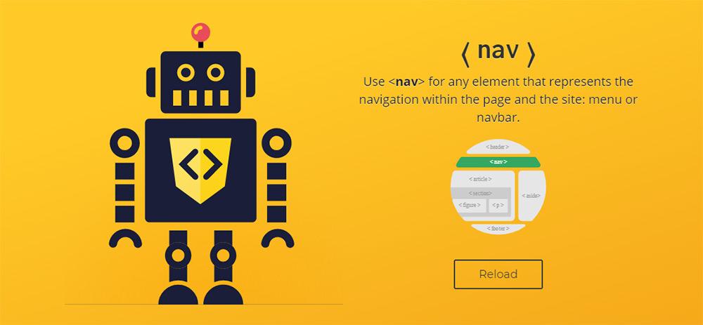 html5语义代码机器人