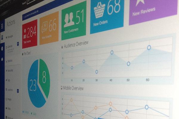 Metro仪表盘分析用户界面设计