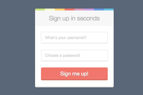 平面用户界面注册登录表单ui