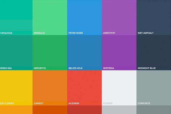 扁平化ui颜色webapp选择器选择器