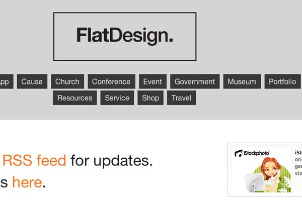 flatdesign界面CSS画廊网站灵感