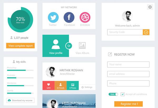 平面网站用户界面工具包webdesigner软件仓库psd