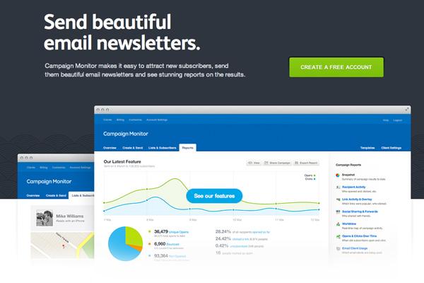 平面电子邮件新闻通讯营销活动监控主页