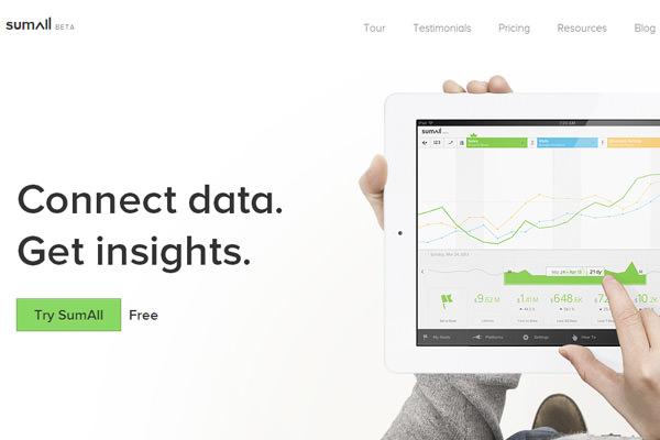 针对营销人员的分析sumall beta网站启动