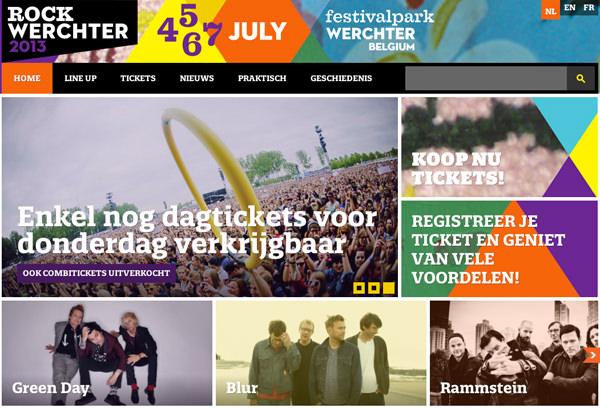 摇滚werchter平面网站布局音乐音乐会