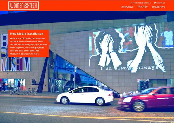 妇女和科技主页平面网站设计