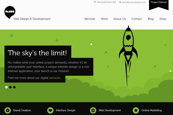 pandr设计工作室代理商平面网站