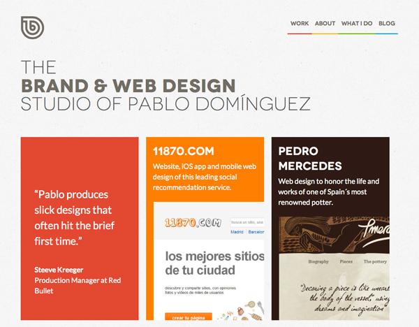 工作室网站布局主页平面界面